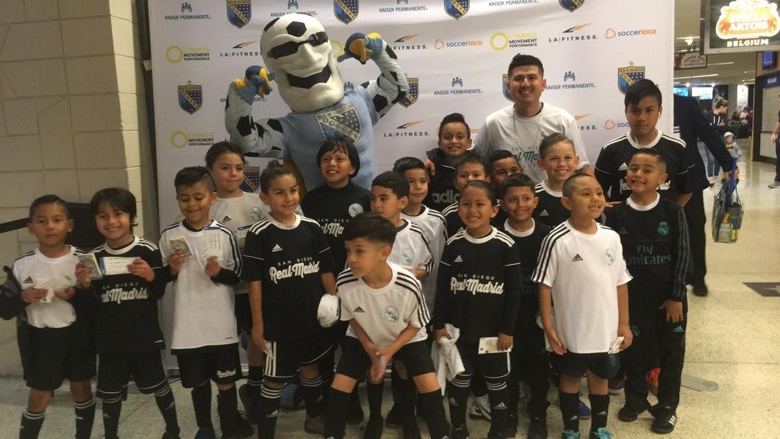 SDRM Boys at San Diego Sockers Game