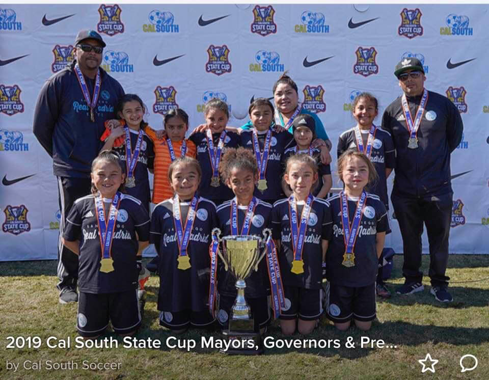STATE CUP CHAMPIONS GIRLS 2010 ISMAEL VIDRIO AND CHRISTOPHER BAILEY