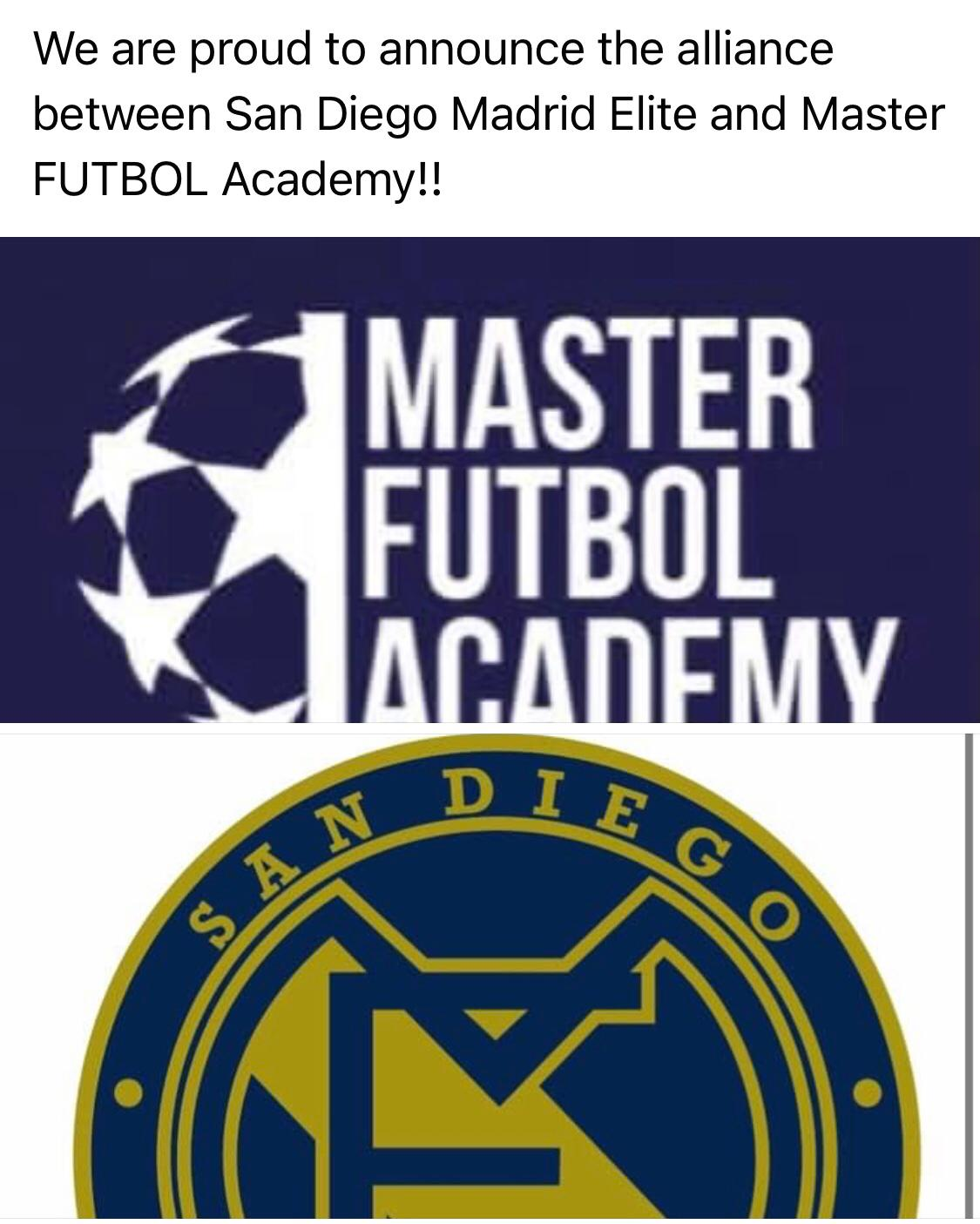ALLIANCE BETWEEN SD MADRID ELITE AND MASTER FUTBOL ACADEMY