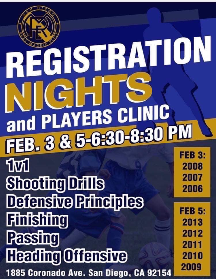 Registration Night and Player Clinic